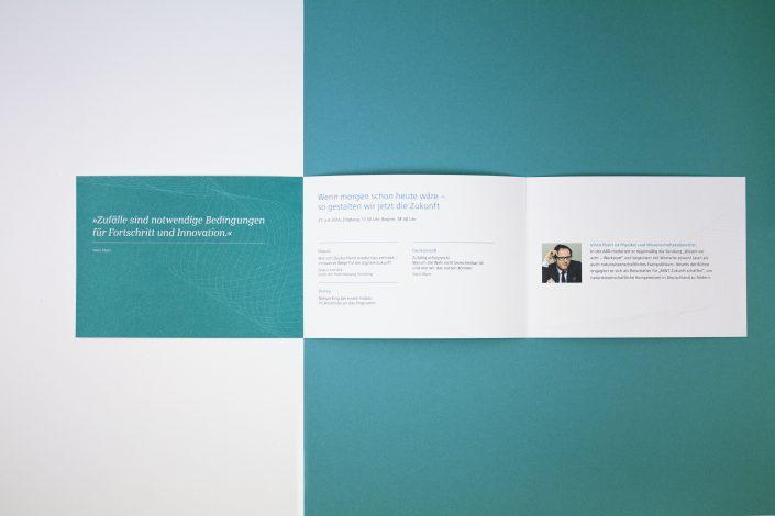 Referenz Siemens Einladung Wirtschaftsforum, Folder