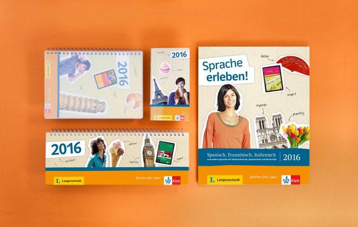 Titelseiten der Kampagne für Ernst Klett Sprachen