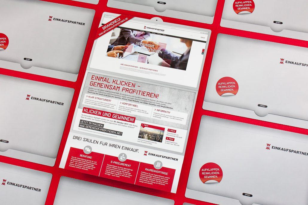 Mailing zur Einführung der neuen Website von W&M EINKAUFSPARTNER