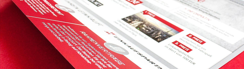 Die wichtigsten Infos kompakt und übersichtlich im Mailing zur Einführungskampagne von W&M EINKAUFSPARTNER