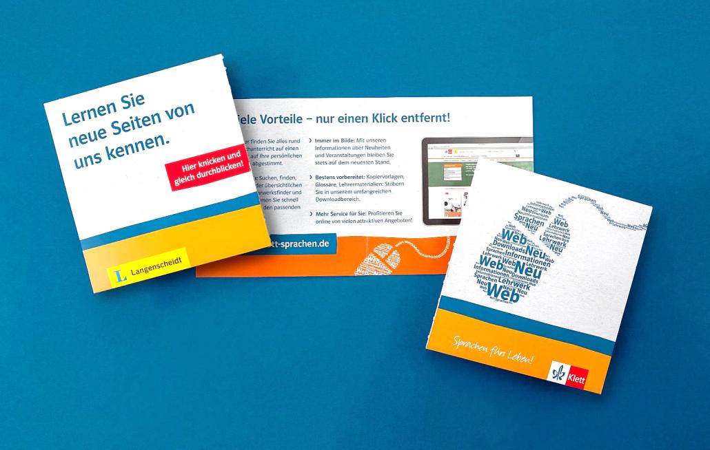 Mailing zum Web-Relaunch von Ernst Klett Sprachen