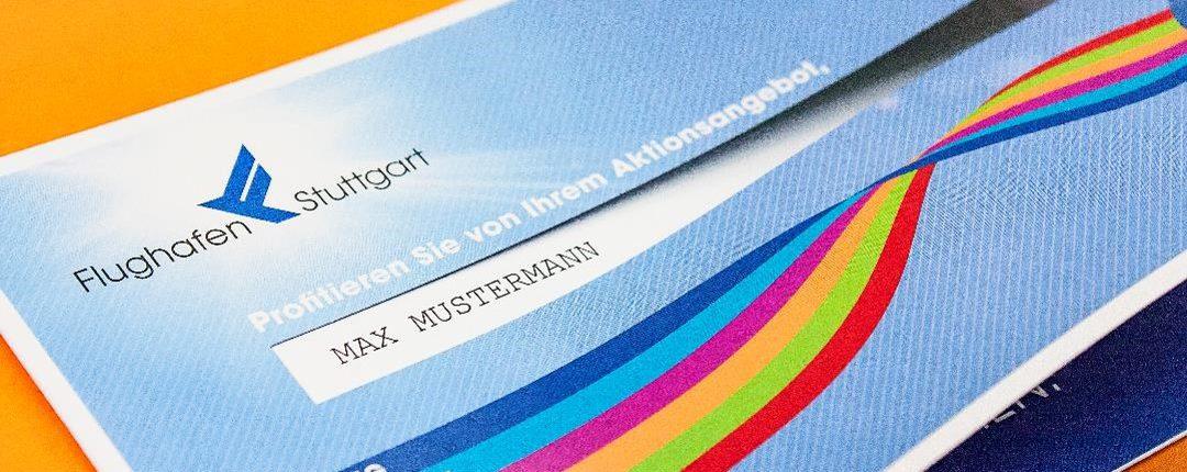 Mailingsystem für die Werbemöglichkeiten am Stuttgart Airport