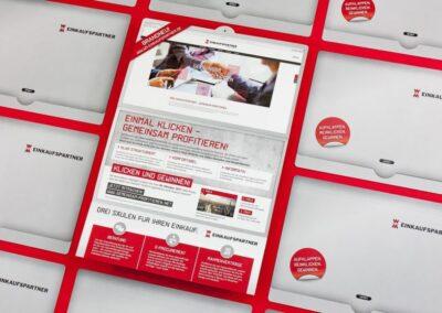 W&M EINKAUFSPARTNER: Einführungskampagne Website